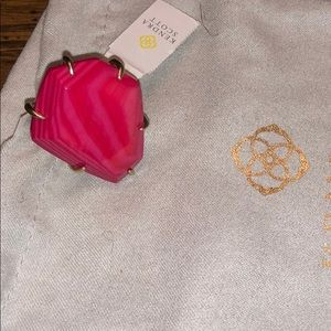Kendra Scott Megan Gold pink cocktail ring NWT's